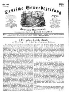 Deutsche Gewerbezeitung und Sächsisches Gewerbeblatt, Jahrg. XIV, Freitag, 4. Mai, nr 36.