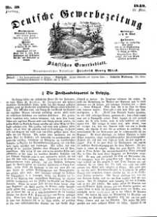 Deutsche Gewerbezeitung und Sächsisches Gewerbeblatt, Jahrg. XIV, Freitag, 11. Mai, nr 38.