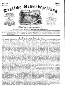 Deutsche Gewerbezeitung und Sächsisches Gewerbeblatt, Jahrg. XIV, Freitag, 1. Juni, nr 44.