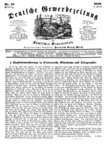 Deutsche Gewerbezeitung und Sächsisches Gewerbeblatt, Jahrg. XIV, Dienstag, 5. Juni, nr 45.