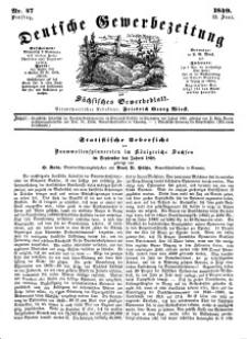 Deutsche Gewerbezeitung und Sächsisches Gewerbeblatt, Jahrg. XIV, Dienstag, 12. Juni, nr 47.