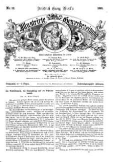 Illustrirte Gewerbezeitung, 1861. Jahrg. XXVI, nr 12.