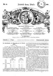 Illustrirte Gewerbezeitung, 1861. Jahrg. XXVI, nr 13.