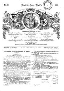 Illustrirte Gewerbezeitung, 1861. Jahrg. XXVI, nr 19.