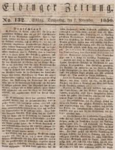 Elbinger Zeitung, No. 132 Donnerstag, 7. November 1850