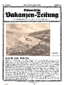 Schwartzsche Vakanzen-Zeitung, Jg. 68, 1938, Nr 31