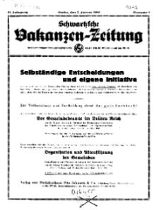 Schwartzsche Vokanzen-Zeitung, Jg. 71, 1941, Nr 1