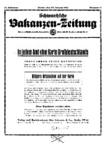 Schwartzsche Vokanzen-Zeitung, Jg. 71, 1941, Nr 5