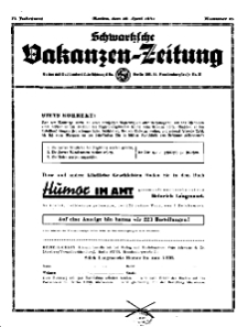 Schwartzsche Vokanzen-Zeitung, Jg. 71, 1941, Nr 15