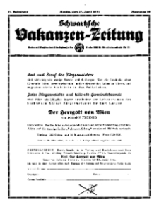 Schwartzsche Vokanzen-Zeitung, Jg. 71, 1941, Nr 16