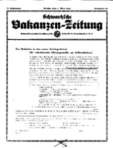 Schwartzsche Vokanzen-Zeitung, Jg. 71, 1941, Nr 19