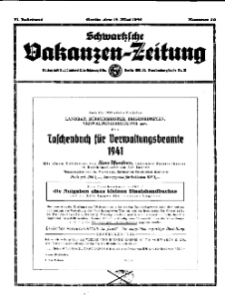 Schwartzsche Vokanzen-Zeitung, Jg. 71, 1941, Nr 20