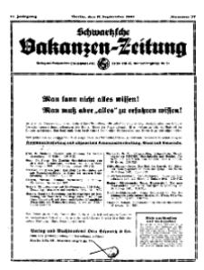Schwartzsche Vokanzen-Zeitung, Jg. 71, 1941, Nr 37