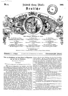 Deutsche Illustrirte Gewerbezeitung, 1862. Jahrg. XXVII, nr 4.