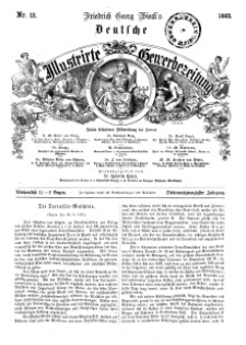 Deutsche Illustrirte Gewerbezeitung, 1862. Jahrg. XXVII, nr 12.
