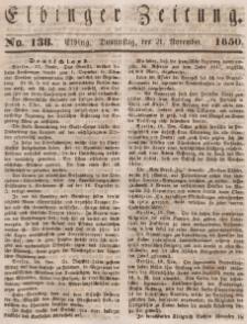 Elbinger Zeitung, No. 138 Donnerstag, 21. November 1850