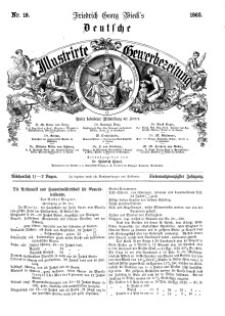 Deutsche Illustrirte Gewerbezeitung, 1862. Jahrg. XXVII, nr 18.