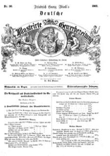 Deutsche Illustrirte Gewerbezeitung, 1862. Jahrg. XXVII, nr 30.