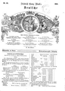 Deutsche Illustrirte Gewerbezeitung, 1862. Jahrg. XXVII, nr 44.