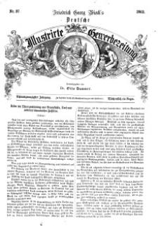 Deutsche Illustrirte Gewerbezeitung, 1863. Jahrg. XXVIII, nr 37.
