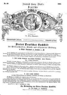 Deutsche Illustrirte Gewerbezeitung, 1863. Jahrg. XXVIII, nr 40.