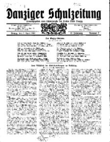 Danziger Schulzeitung, Jg. 12, 1931, Nr 7.