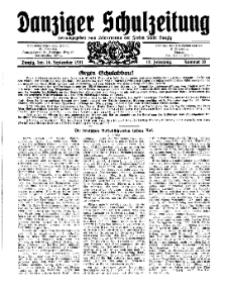Danziger Schulzeitung, Jg. 12, 1931, Nr 18.