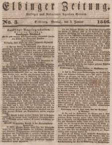 Elbinger Zeitung, No. 3 Montag, 5. Januar 1846