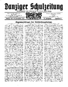 Danziger Schulzeitung, Jg. 12, 1931, Nr 22.