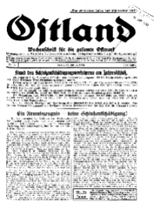 Ostland : Wochenschrift für die gesamte Ostmark, Jg. 11, 1930, Nr 3.
