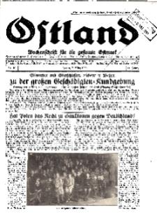 Ostland : Wochenschrift für die gesamte Ostmark, Jg. 11, 1930, Nr 10.