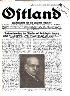 Ostland : Wochenschrift für die gesamte Ostmark, Jg. 11, 1930, Nr 11.