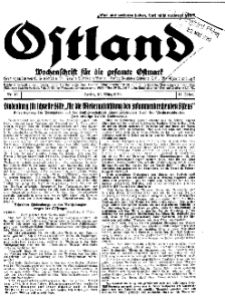 Ostland : Wochenschrift für die gesamte Ostmark, Jg. 11, 1930, Nr 12.