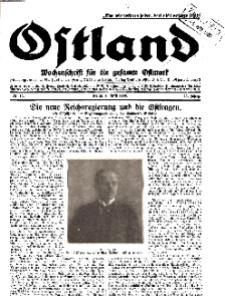 Ostland : Wochenschrift für die gesamte Ostmark, Jg. 11, 1930, Nr 14.