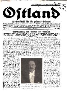 Ostland : Wochenschrift für die gesamte Ostmark, Jg. 11, 1930, Nr 18.