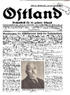 Ostland : Wochenschrift für die gesamte Ostmark, Jg. 11, 1930, Nr 21.