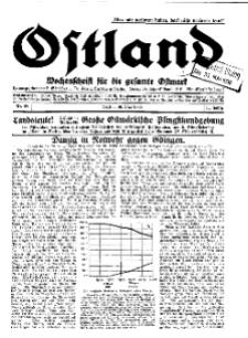 Ostland : Wochenschrift für die gesamte Ostmark, Jg. 11, 1930, Nr 22.