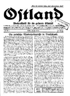 Ostland : Wochenschrift für die gesamte Ostmark, Jg. 11, 1930, Nr 25.
