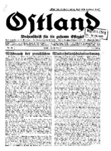Ostland : Wochenschrift für die gesamte Ostmark, Jg. 11, 1930, Nr 29.