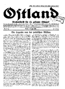 Ostland : Wochenschrift für die gesamte Ostmark, Jg. 11, 1930, Nr 31.
