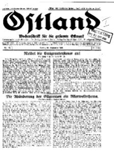 Ostland : Wochenschrift für die gesamte Ostmark, Jg. 11, 1930, Nr 39.