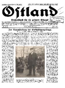 Ostland : Wochenschrift für die gesamte Ostmark, Jg. 11, 1930, Nr 41.