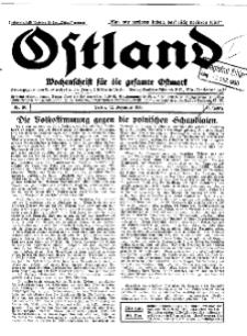 Ostland : Wochenschrift für die gesamte Ostmark, Jg. 11, 1930, Nr 50.