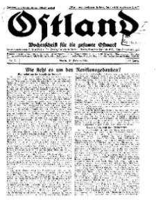 Ostland : Wochenschrift für die gesamte Ostmark, Jg. 12, 1931, Nr 7.
