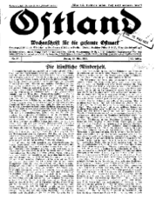 Ostland : Wochenschrift für die gesamte Ostmark, Jg. 12, 1931, Nr 20.
