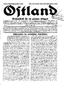 Ostland : Wochenschrift für die gesamte Ostmark, Jg. 12, 1931, Nr 25.