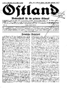 Ostland : Wochenschrift für die gesamte Ostmark, Jg. 12, 1931, Nr 26.