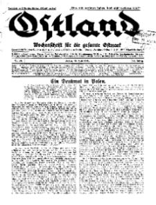 Ostland : Wochenschrift für die gesamte Ostmark, Jg. 12, 1931, Nr 28.