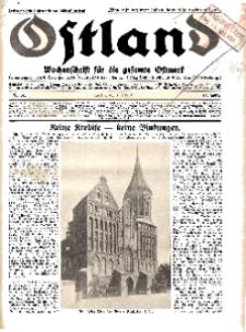 Ostland : Wochenschrift für die gesamte Ostmark, Jg. 12, 1931, Nr 31.