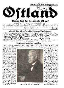 Ostland : Wochenschrift für die gesamte Ostmark, Jg. 10, 1929, Nr 3.